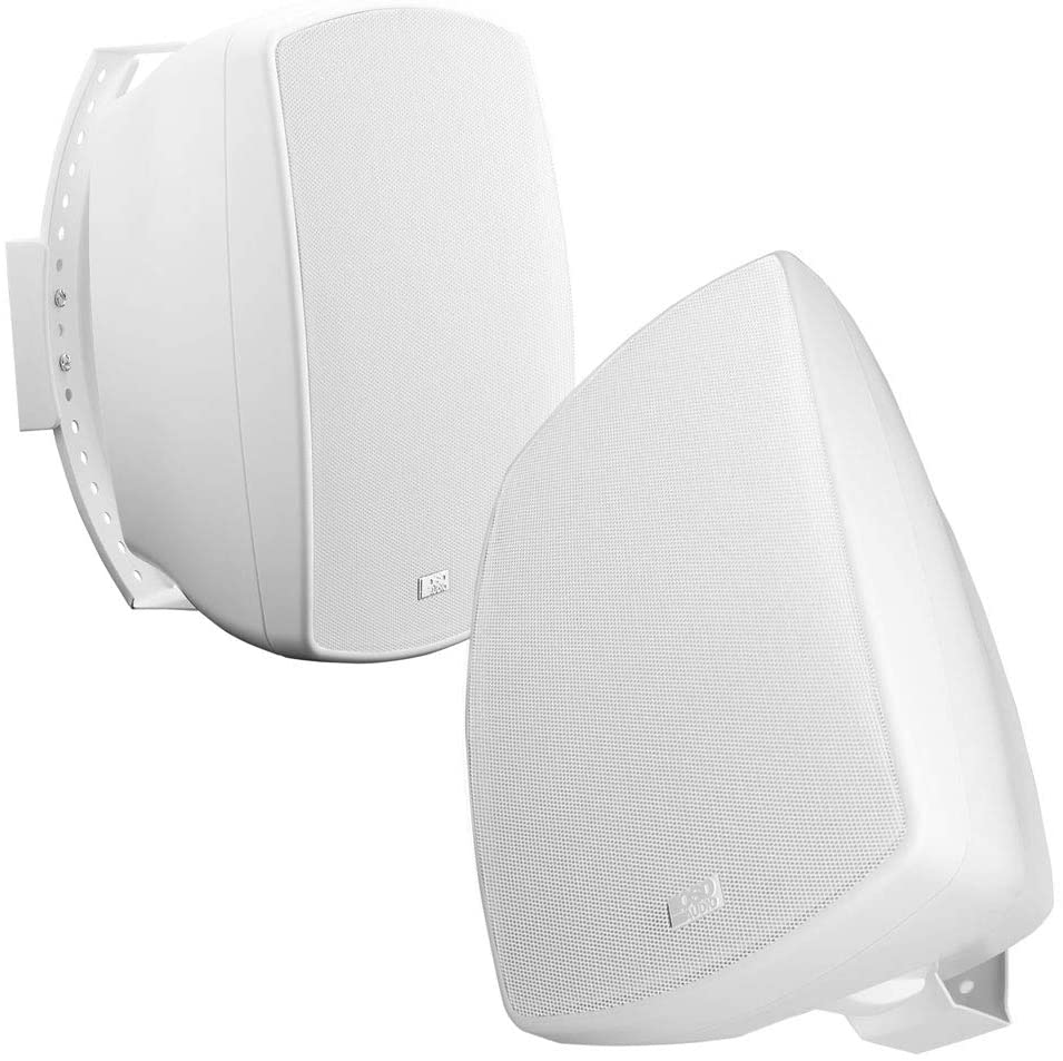 AP650 6.5-Inch 150W High Performance Composite Resin Low Resonator Cabinet 2-Way Indoor/Outdoor Weather-Resistant IP6X Rated Patio Speakers - OSD Audio - (Pair, White)