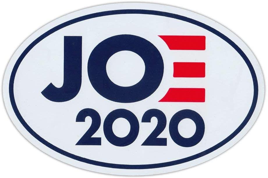 Crazy Novelty Guy Oval Political Campaign Magnet, Joe 2020 Logo Magnet, Democrat President, 6