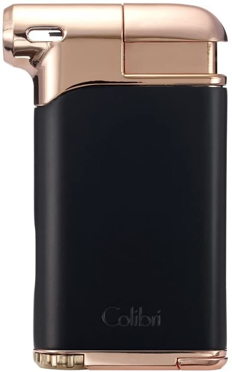 Colibri Pacific Air Soft Flame Lighter - Black - Rose
