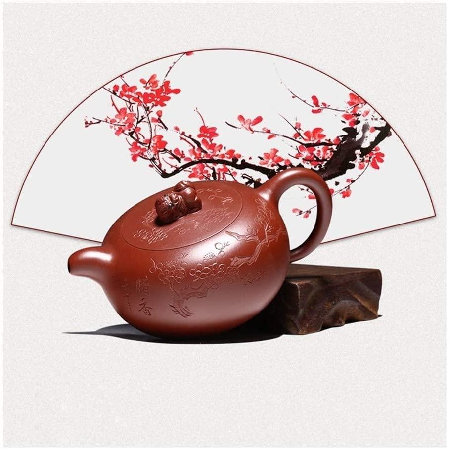 MADONG Teapot famous hand-Zhuni Big Red Teapot Kung Fu Tea Set auspicious pot (Size : Purple mud)