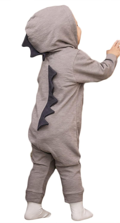 Kids Baby Girls Cartoon Dinosaur Long Sleeve Romper One-Piece Jumpsuit Outfits