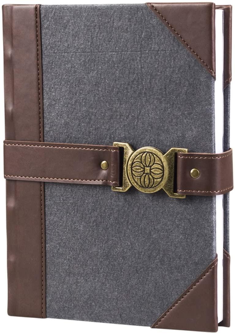 DaySpring Notebook Journal - Grey Felt with Closure - 83630