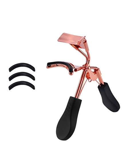DNHCLL Professional Eyelash Curler With 3 Silicone Refill Pads,Long lasting and Natural Curling, Fits All Eye Shapes Get Gorgeous Eyelashes in Seconds