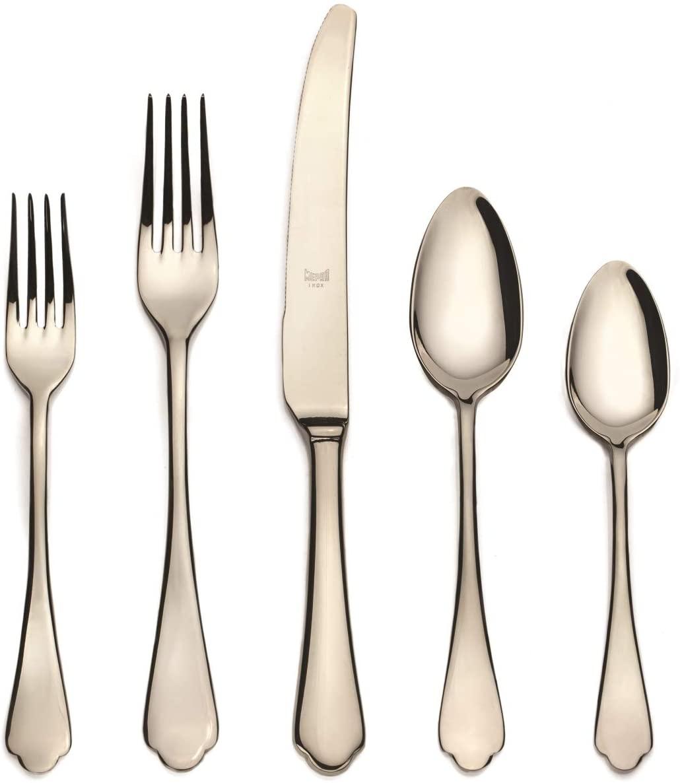 MEPRA 106422005C Dolce Vita Champagne Cutlery Set - 5 Piece