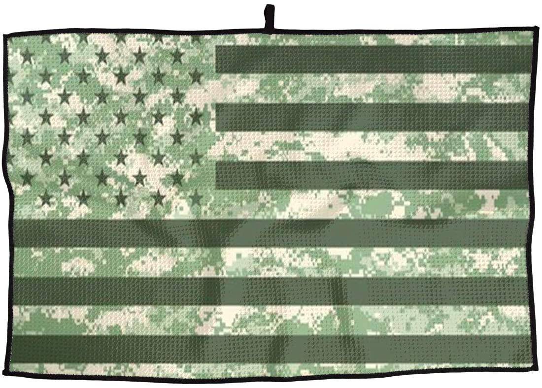 SHARP-Q Camouflage USA Flag Premium Golf Towel Fashion Towel