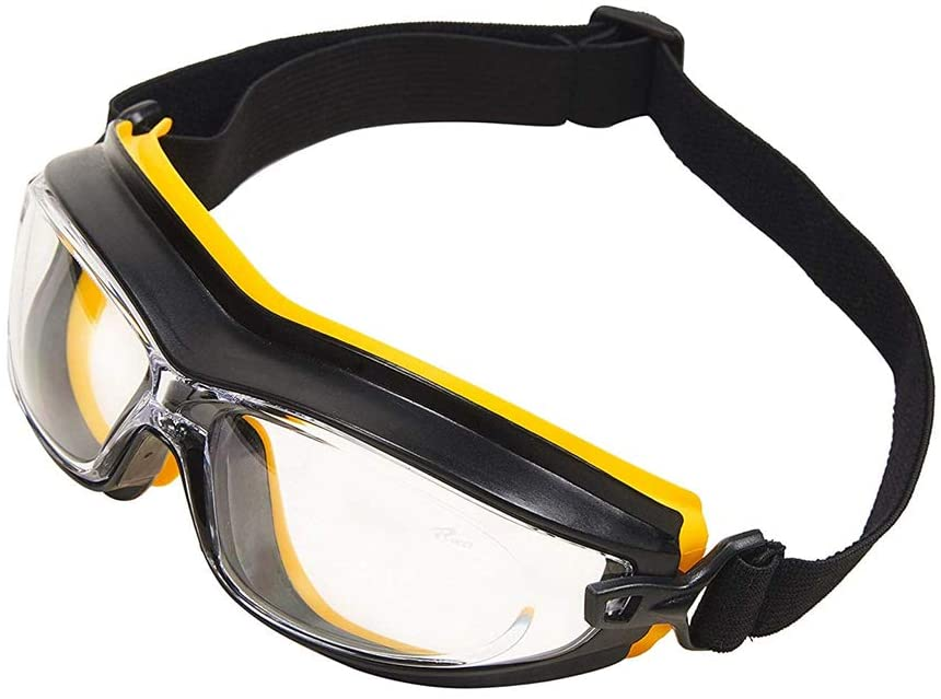 LANGYINH Industrial Safety Glasses Work Protection Glasses with Neck Cord,Anti Scratch & Anti-Fog,Ergonomics Glasses,Use for DIY,Motorbike,Cycling,Lab Eye Protection