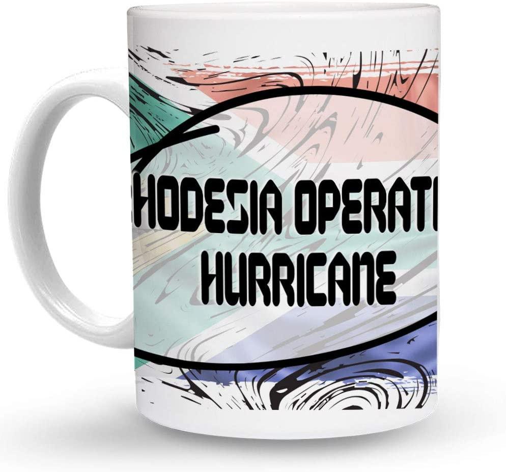 Makoroni - RHODESIA OPERATION HURRICANE South Africa Flag 6 oz Ceramic Espresso Shot Mug/Cup Design#54
