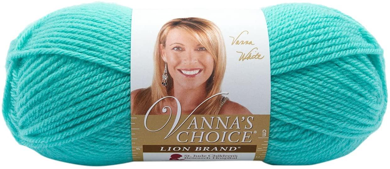 Lion Brand Yarn 860-106 Vannas Choice Yarn, Aquamarine