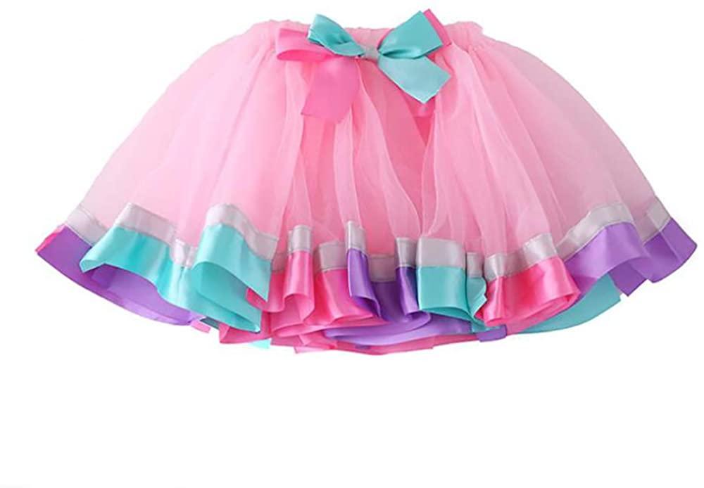 Tutu Skirts for Girls Toddler Ballet Skirt Classic Layers Tulle Tutu Skirt for Kids,Multicolor-5