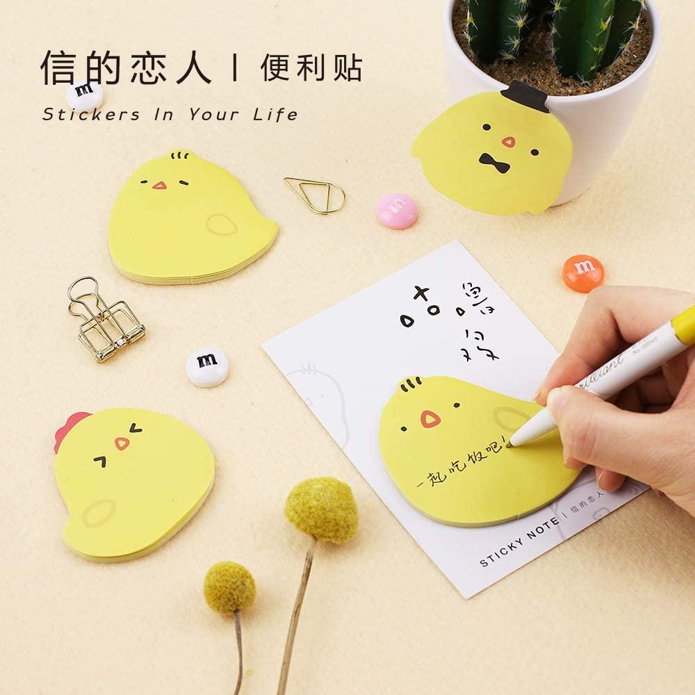 Mix Chick Shape Japanese Cartoon Shape Stationery Notepads/Note Paper (8)