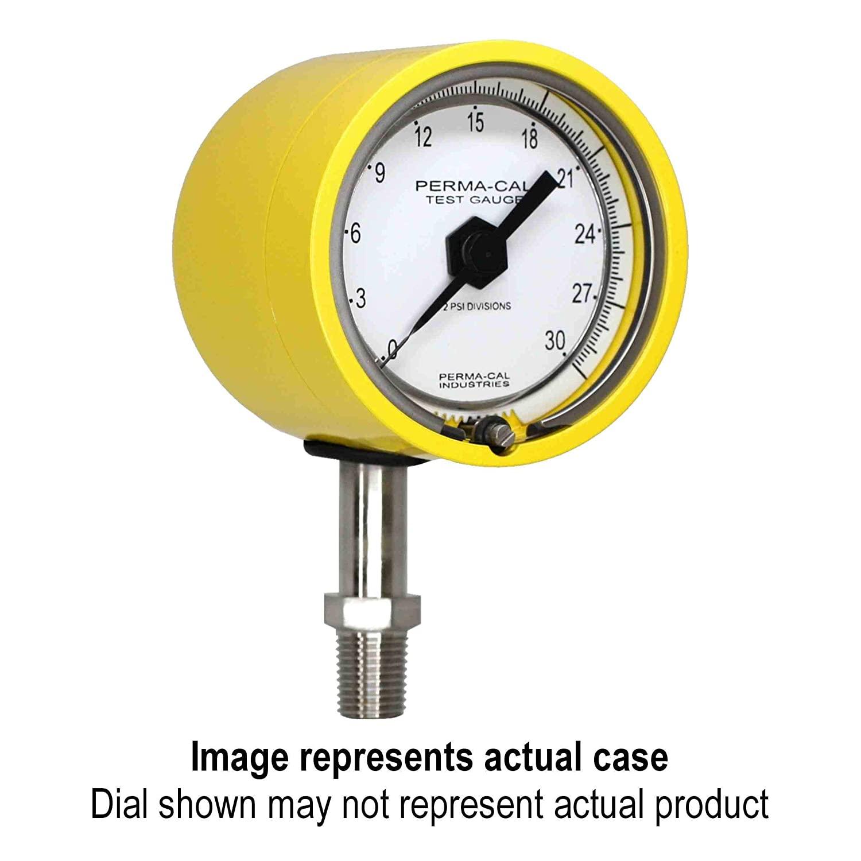 Pressure Gauge, Gearless, Process, 0-200 psi, 2.5