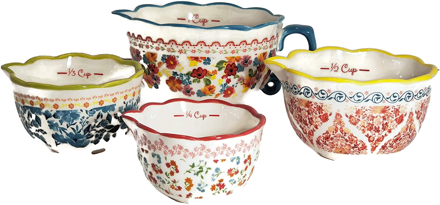 The Pioneer Woman Wildflower Whimsy Set of 4 Measuring Bowls