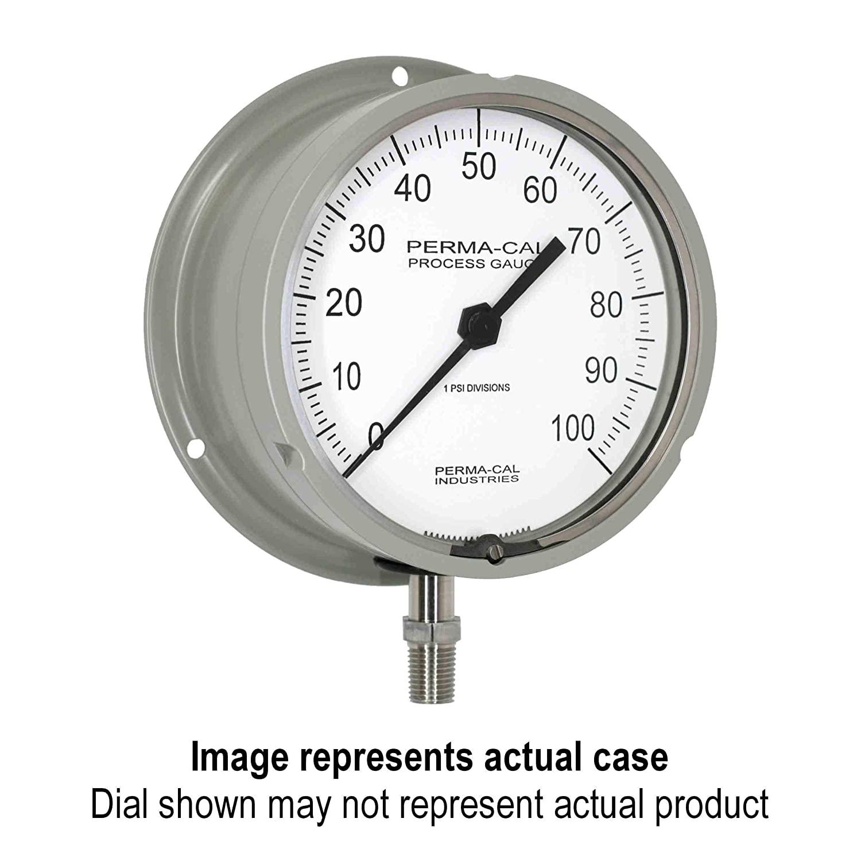 Pressure Gauge, Military Grade, Gearless, Process, 0-600 psi, 4.5