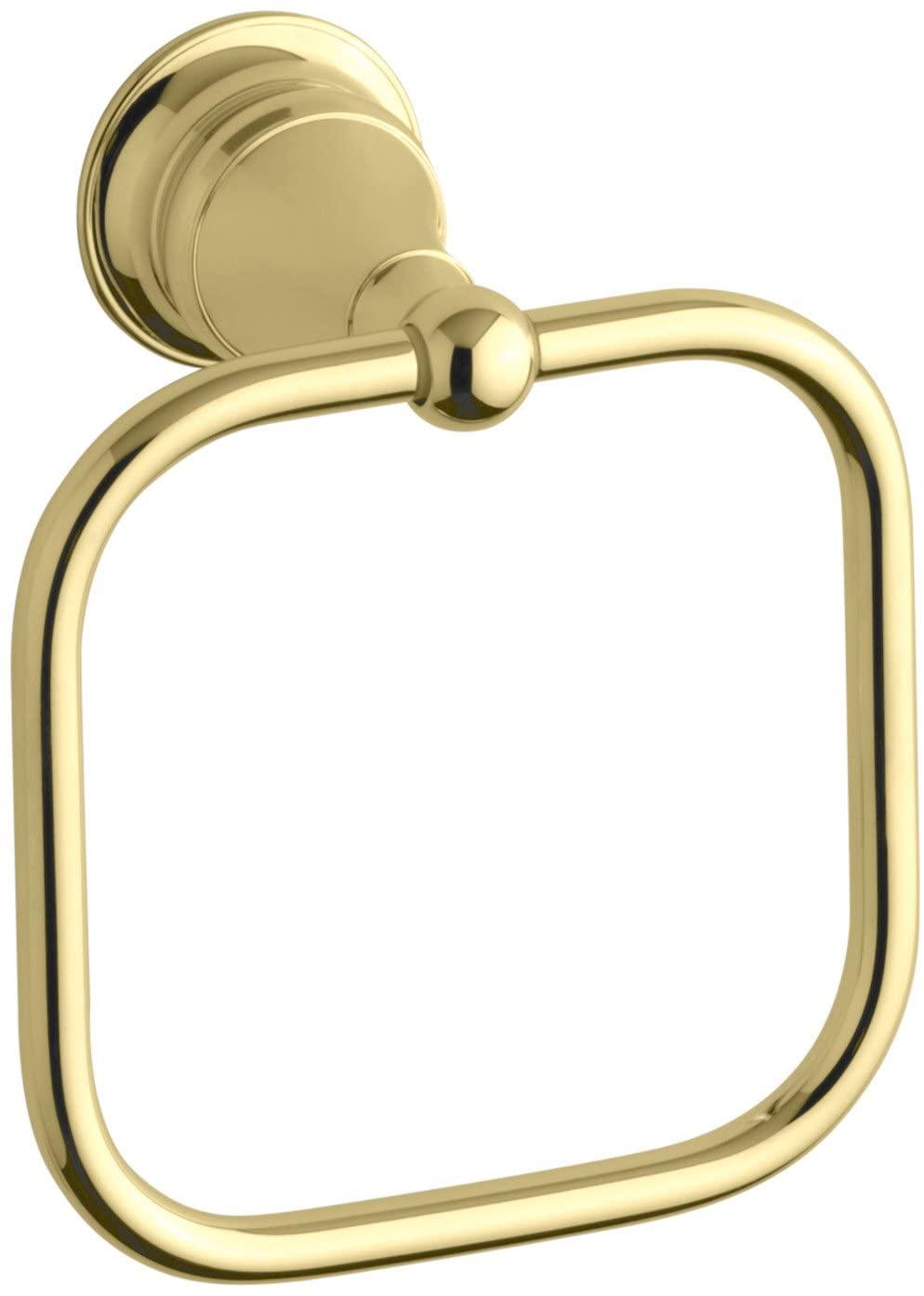 KOHLER K-16140-PB Revival Towel Ring, Vibrant Polished Brass