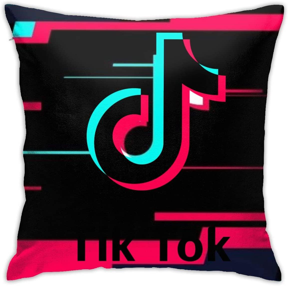 Shannahatten Pillow Covers TIK-Tok Home Decor Pillowcase Square Size 18inch18inch Cushion Case,Throw Pillow