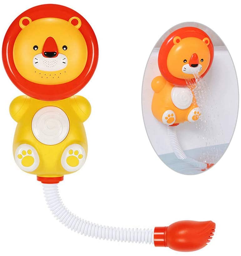 WE&ZHE Baby Bath Toys,Children's Electric Lion Shower Bathroom Water Play Toy Automatic Water Spray Toy,Gifts for Boys Girls