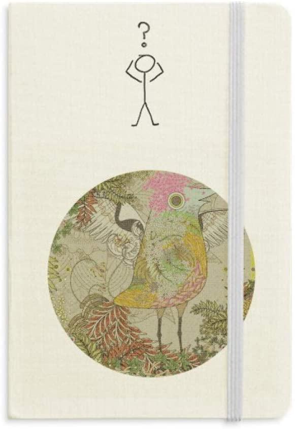 Flower Bird Wing Ukiyo-e Japan Question Notebook Classic Journal Diary A5
