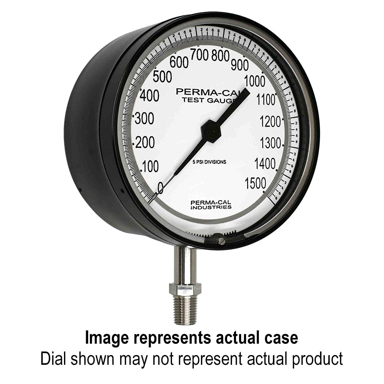 Compound Gauge, Gearless, Test, 30inHg-0-160 psi, 4.5