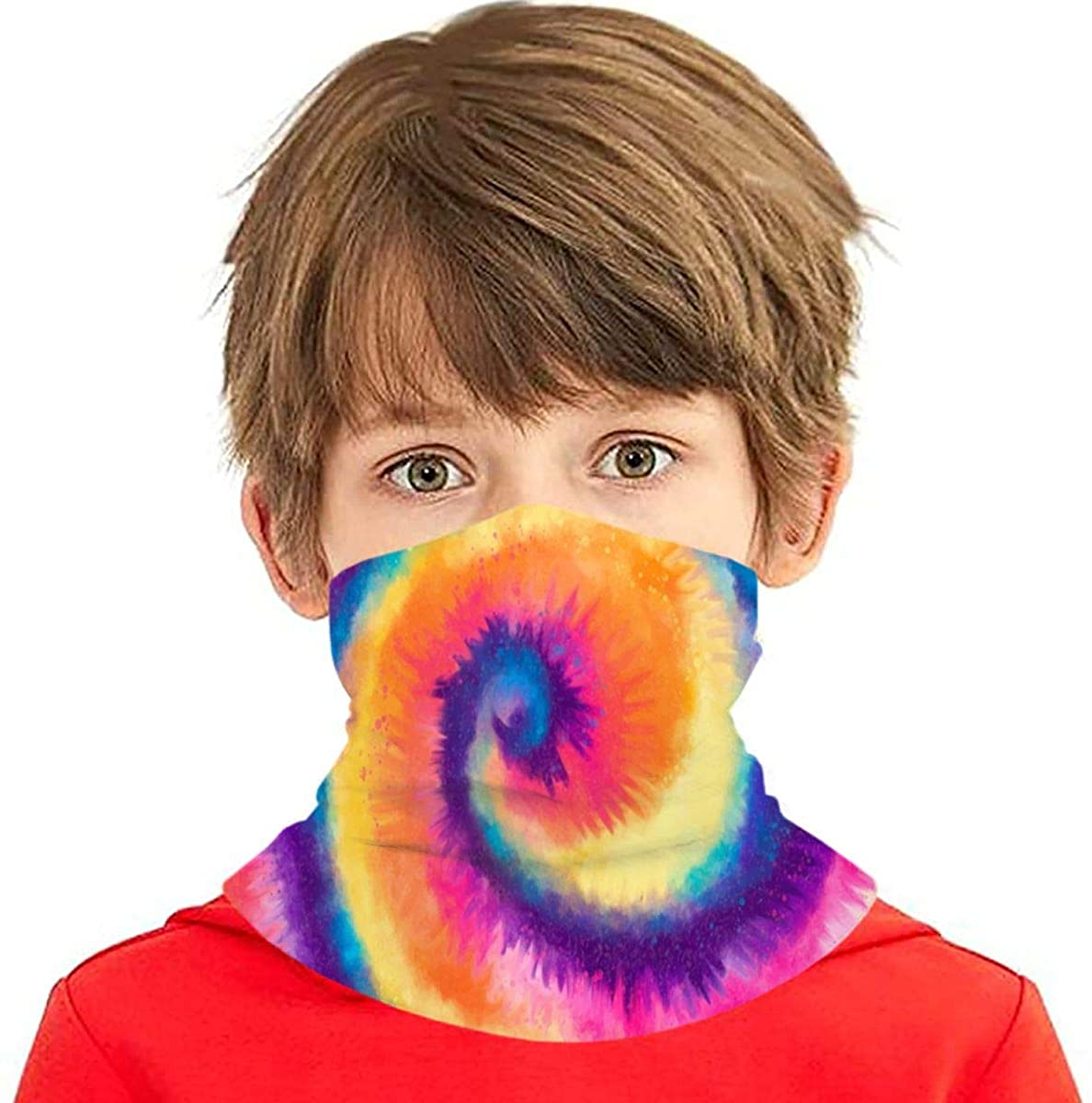 Advanced Abstract Tie Dye Kids Face Mask Cute Printed Face Cover Bandana Magical Multi Funtion Balaclava For Boys & Girls