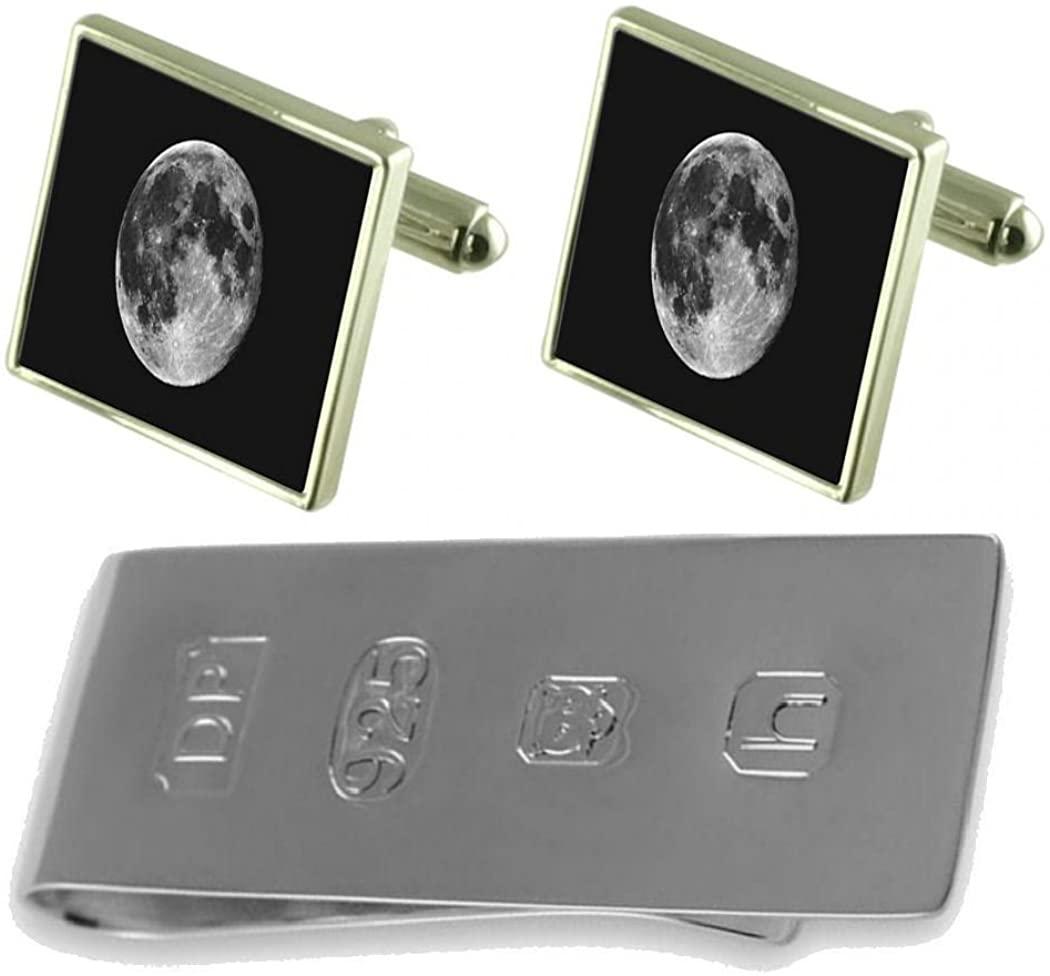 Select Gifts Moon Cufflinks & James Bond Money Clip