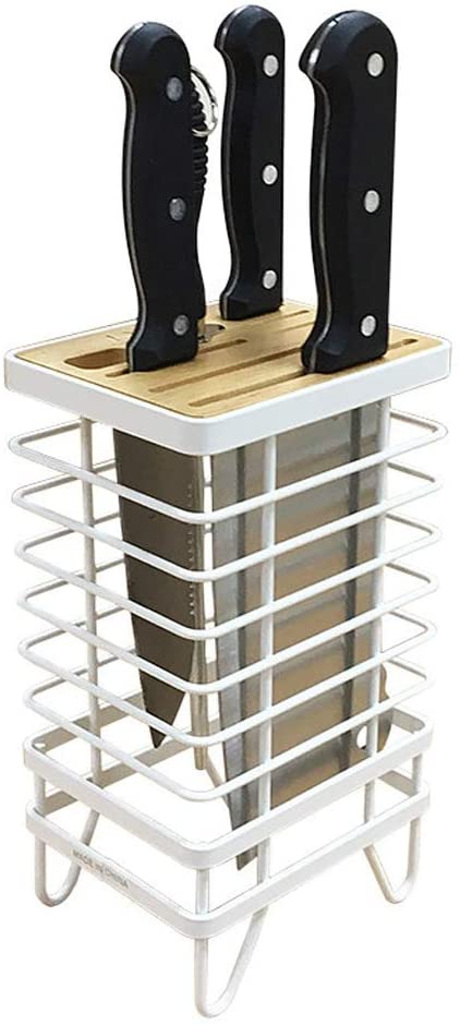 Stainless Steel Knife Holder Drawer Organizer Is Best For Chef Knife Kitchen Universal Knife Holder Paring Knife Easy To Clean (Color : Silver)