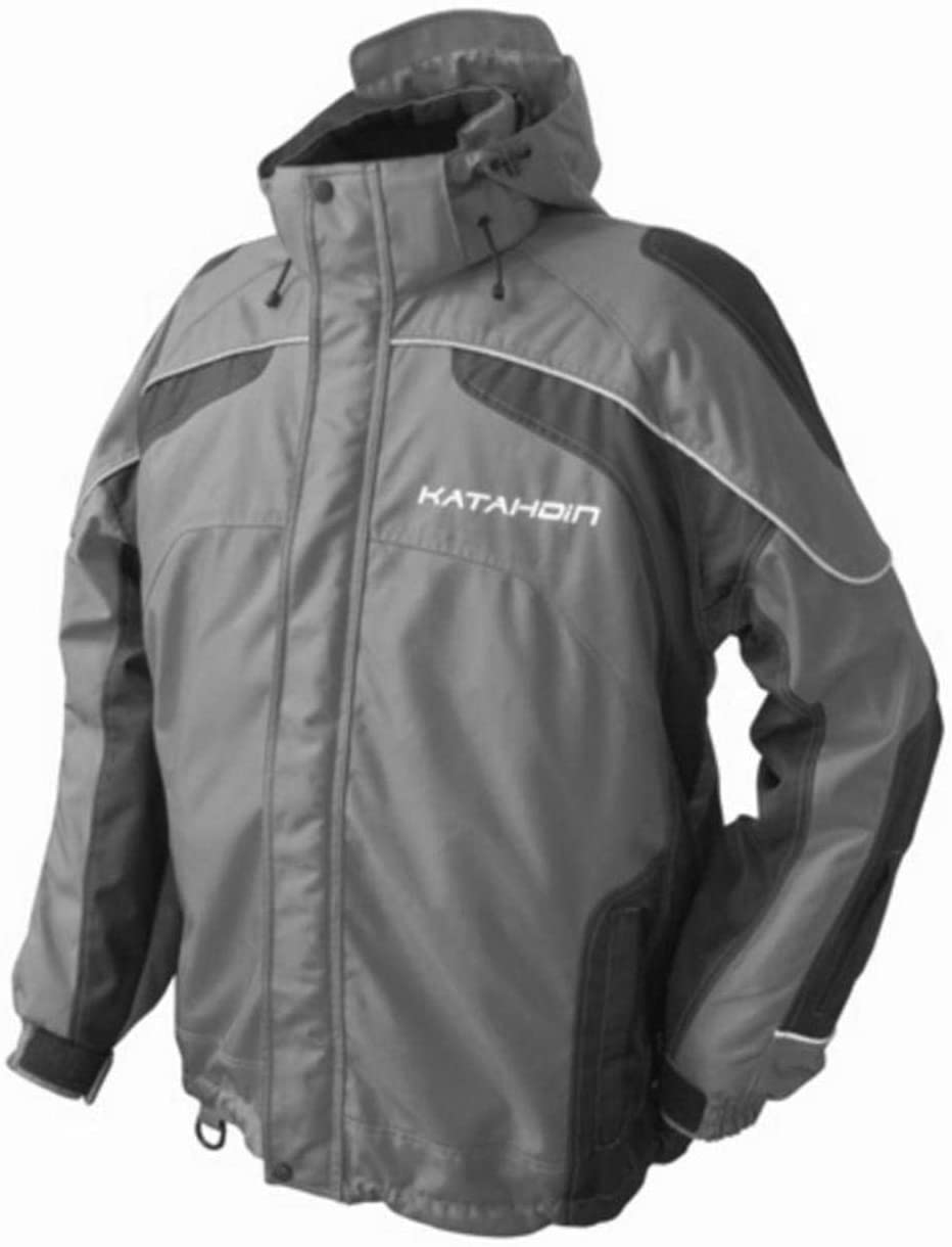 Katahdin Tron Mens Snowmobile Jacket Gray MD