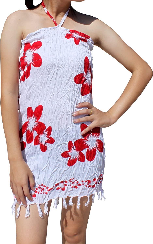 Full Funk Indonesian Rayon Summer Smock Bust and Halter Neck Short Dress
