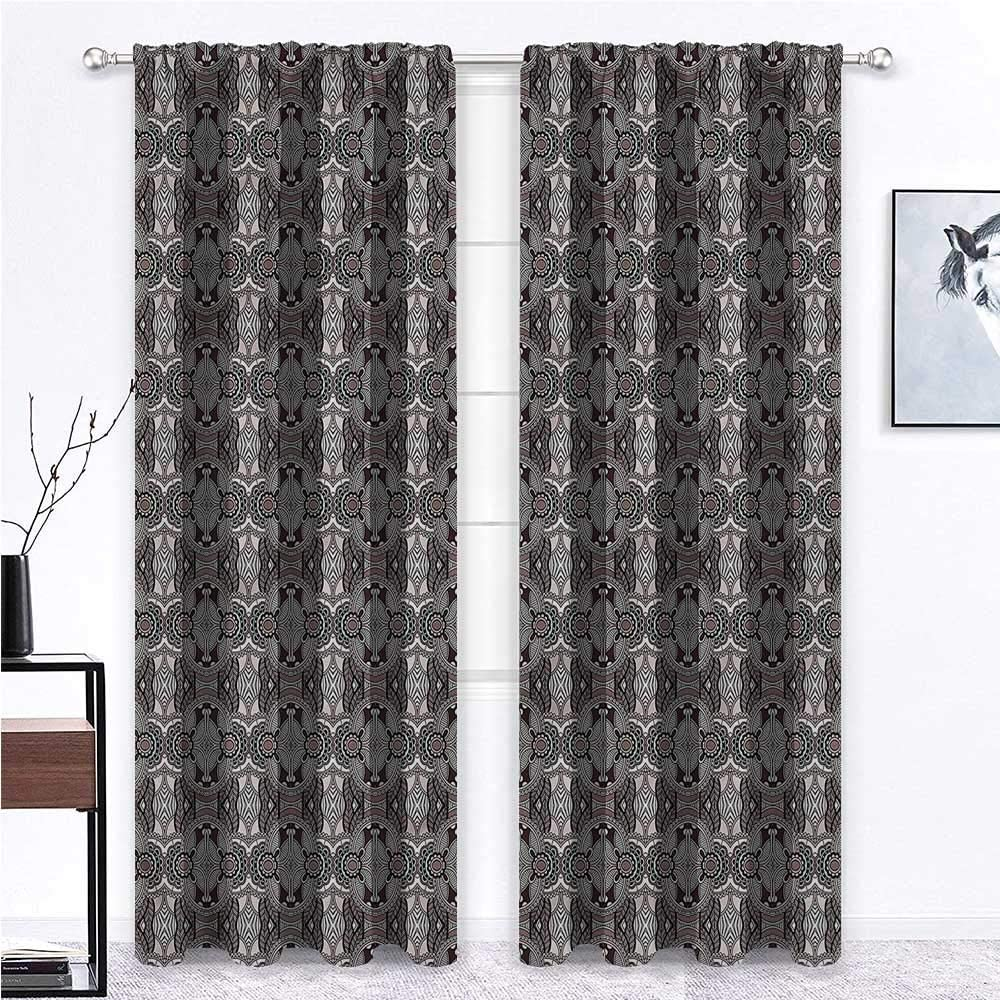 GugeABC Outdoor Curtains for Patio Waterproof Vintage for Bedroom Victorian Royal Floral 96 x 72 Inch (2 Panels)