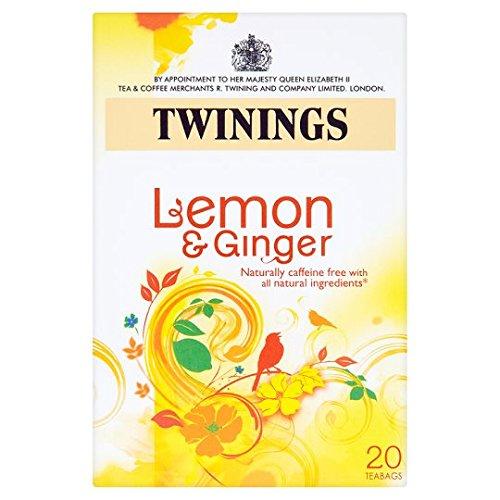 Twinings Lemon & Ginger Tea, 20 Tea Bags, 30g