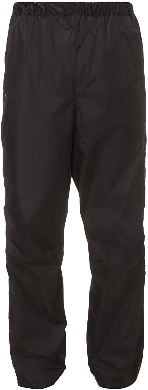 VAUDE Fluid Full-Zip Pants Men's Rain Pants - Breathable Waterproof Windproof Rain Pants for Cycling