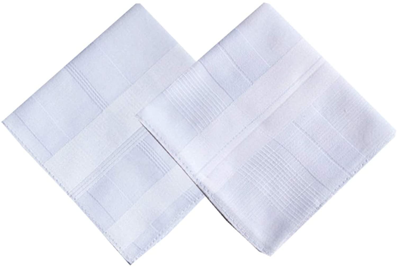 Men's Cotton Handkerchiefs White Large 17