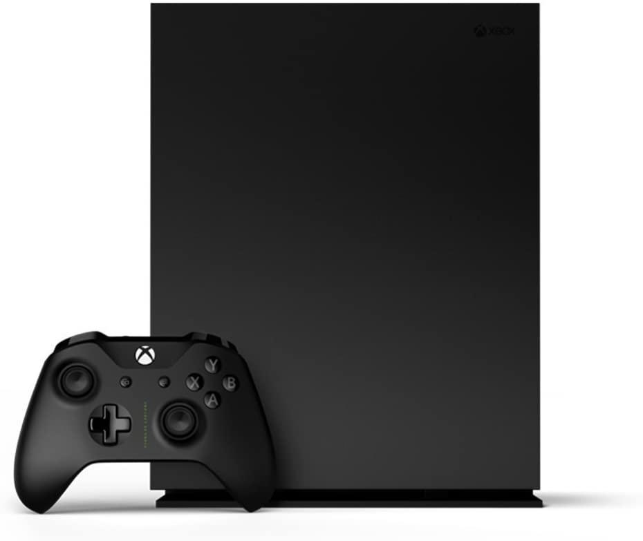 Microsoft Xbox One X 1TB Project Scorpio Limited Edition Black Console (1787) (Renewed)