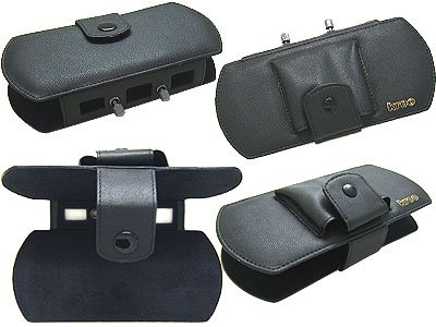 Deluxe PSP Black Leather Carrying Case for Sony PSP