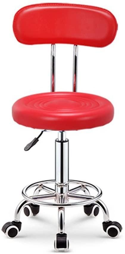 GWW Decorative Stool Bar Chair, Backrest Liftable Steerable Computer Chair Coffee Table Stool Beauty Chair High Stool Bar Stool Household Rotating Chair Bar Chair Seat Height 48-58cm (Color : Blue)