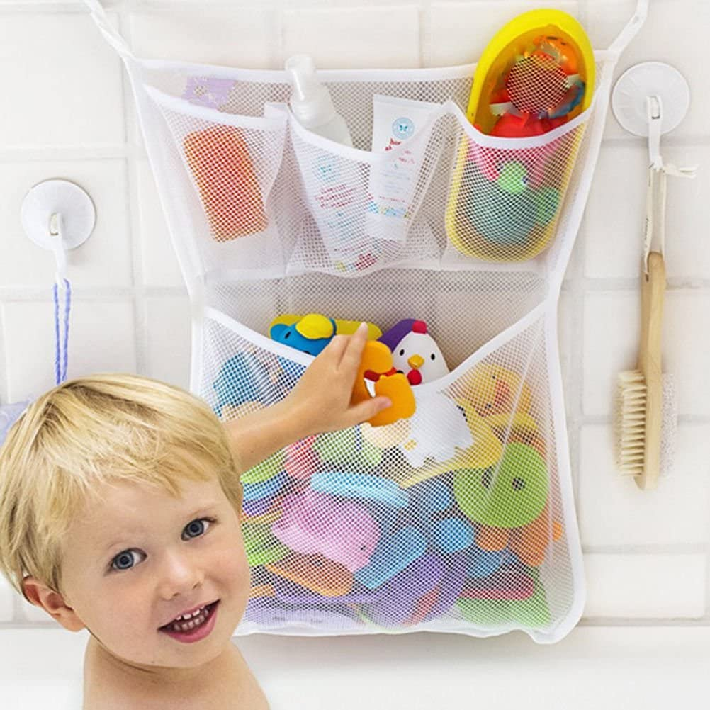 NPLE-Fashion Baby Bath Bathtub Toy Mesh Net Storage Bag Organizer Holder Bathroom TO