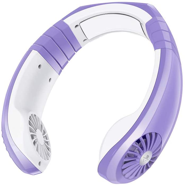 Personal Neck Fan Air Conditoiner Fan Cooler Rechargeable USB Battery Operated Cooling Neckband Fans