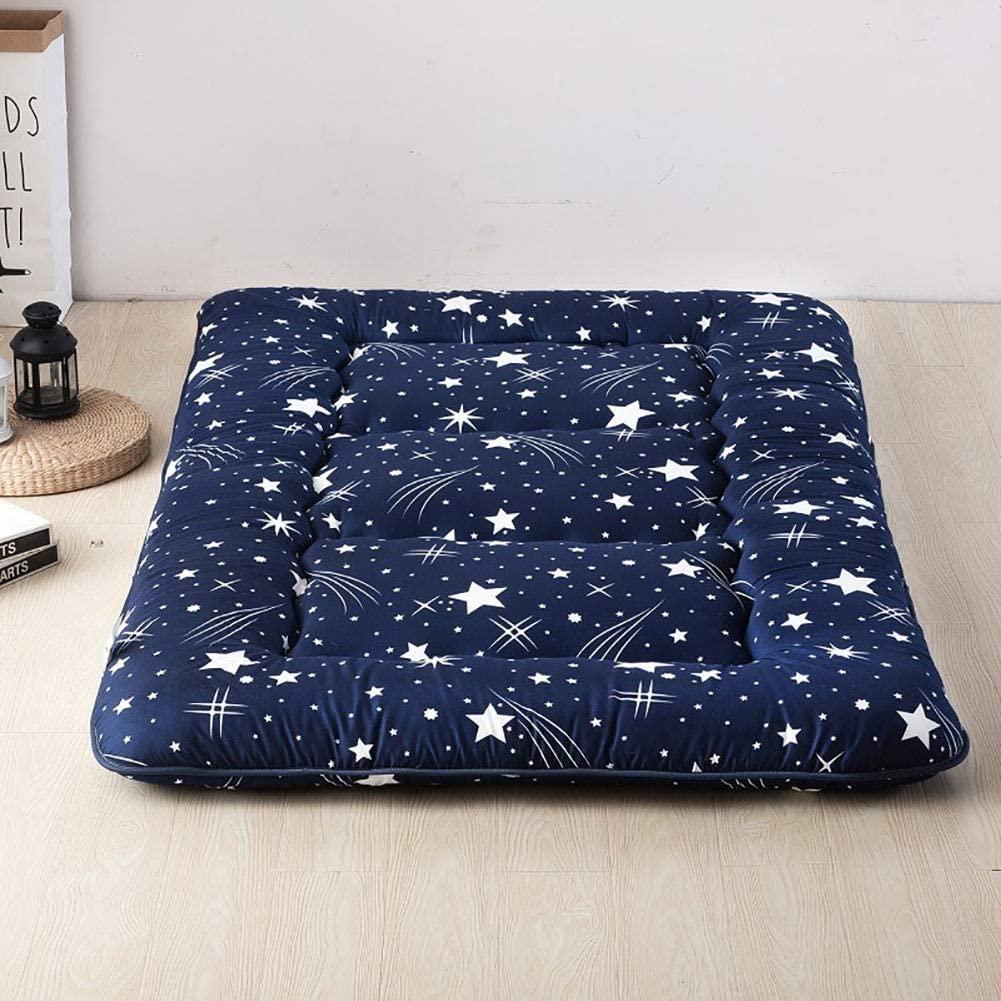 ZAIPP Student Dormitory Portable Mattress Pad,Sleeping Pad Tatami Floor Mat,Japanese Foldable Futon Floor Mattress 120x200cm(47x79inch)