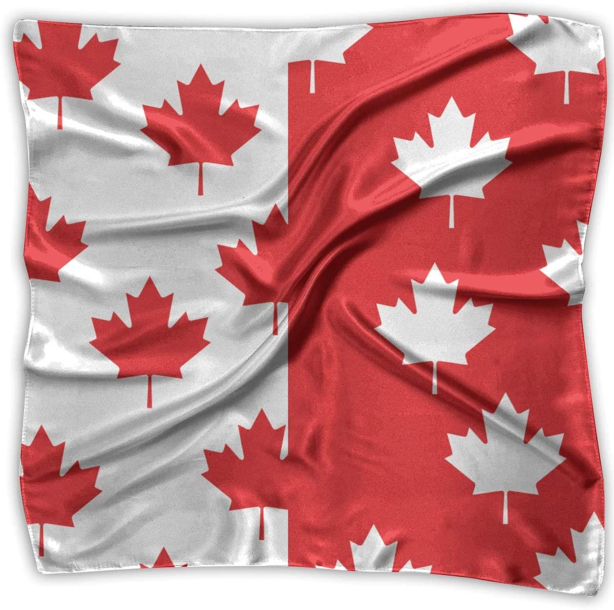 WFIRE Canada Flag Maple Leaf Square Handkerchiefs Scarf Shawl Bandanas Headscarf Neckerchief