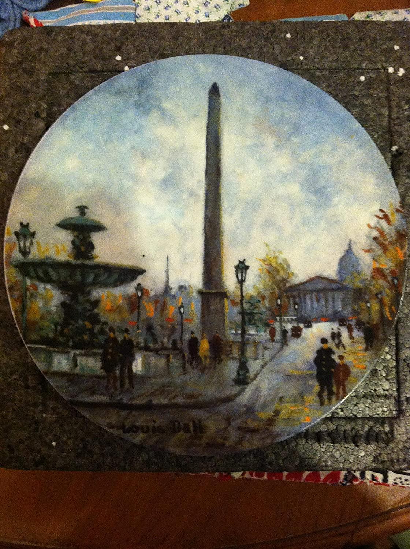 La Place De La Concorde by Louis Dali Collector Plate