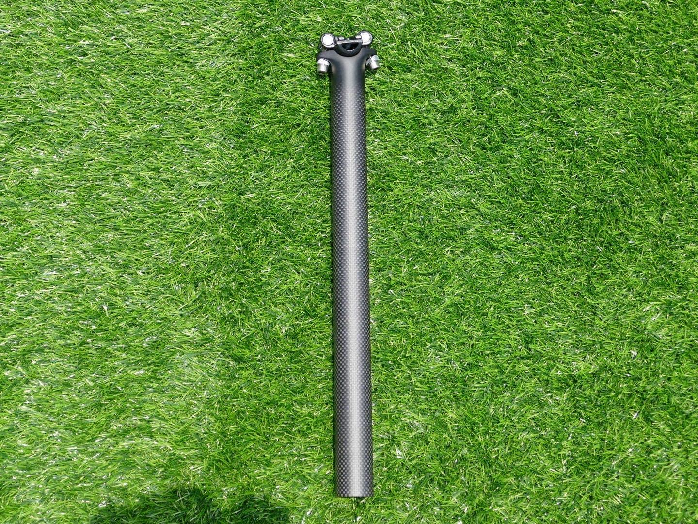 3K Carbon Matt 27.2mm Racing Bike Seatpost 400mm Carbon Fiber Bike Seatpost Suitable for Most Bicycle Mountain Bike Road Racing Bike MTB BMX (Black)