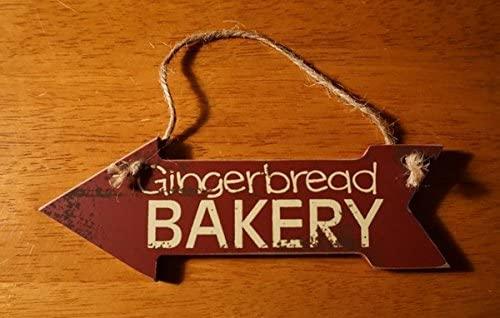 Gingerbread Bakery Arrow Sign Ornament Christmas Baker Holiday Kitchen Decor