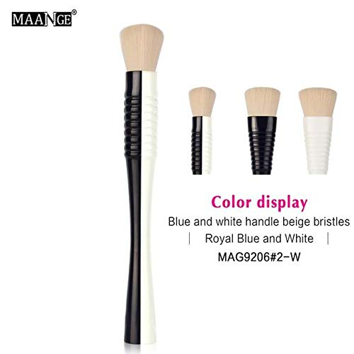 1Pcs Flat Top Blush Makeup Brush Foundation Contour Powder Blending Cosmetic Face Make Up Beauty Fashion Brush Maquiagem gift (blue combine white)