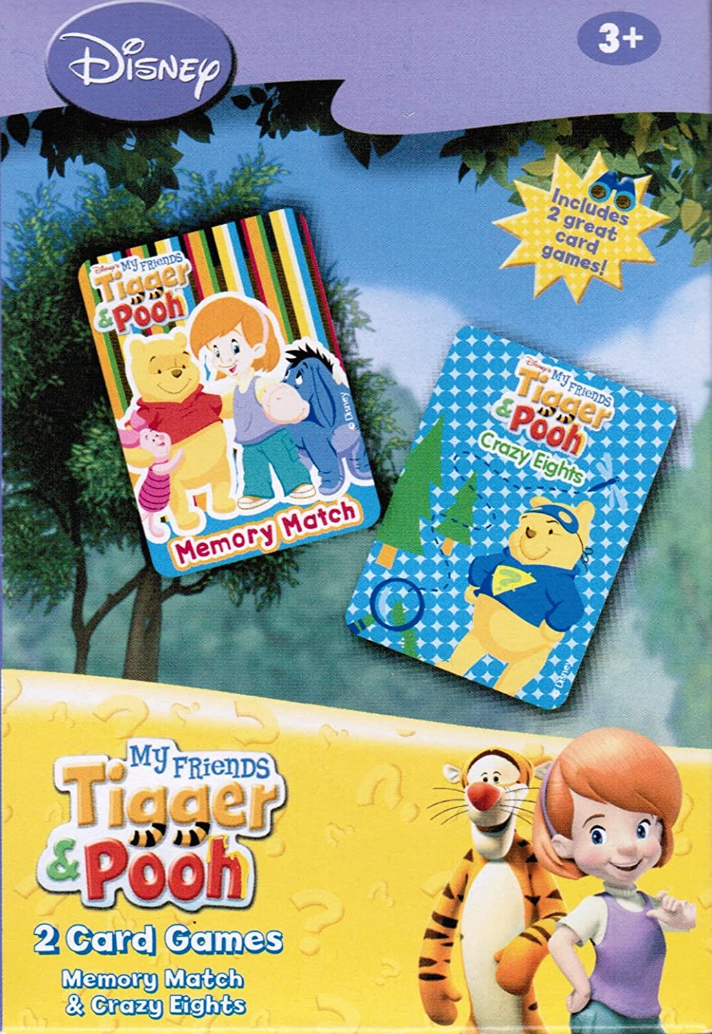 Disney My Friends Tigger & Pooh Memory Match & Crazy Eights Card Games