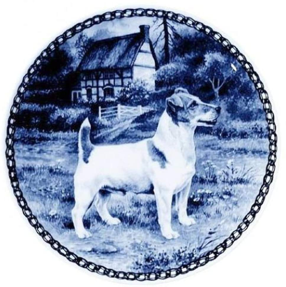 Jack Russell Terrier Dog Porcelain Plate For all Dog Lovers Size 7.61 inches