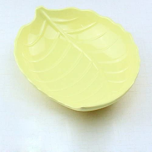OLQMY-Fruit Plate Stylish Creative Living Room Snack Trays And Dried Fruits Leaves Fruit Yellow