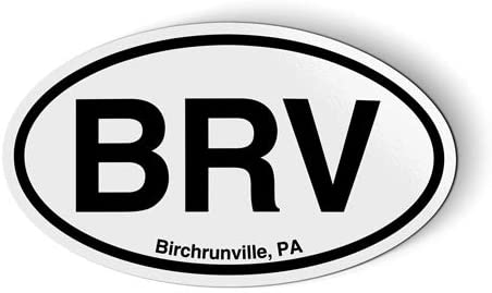 Stickers & Tees BRV Birchrunville PA Oval - Car Magnet - 5