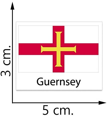 Guernsey Flag Temporary Tattoos Sticker Body Tattoo