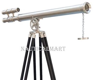 NauticalMart NM010892A Floor Standing Brushed Nickel Griffith Astro Telescope 65