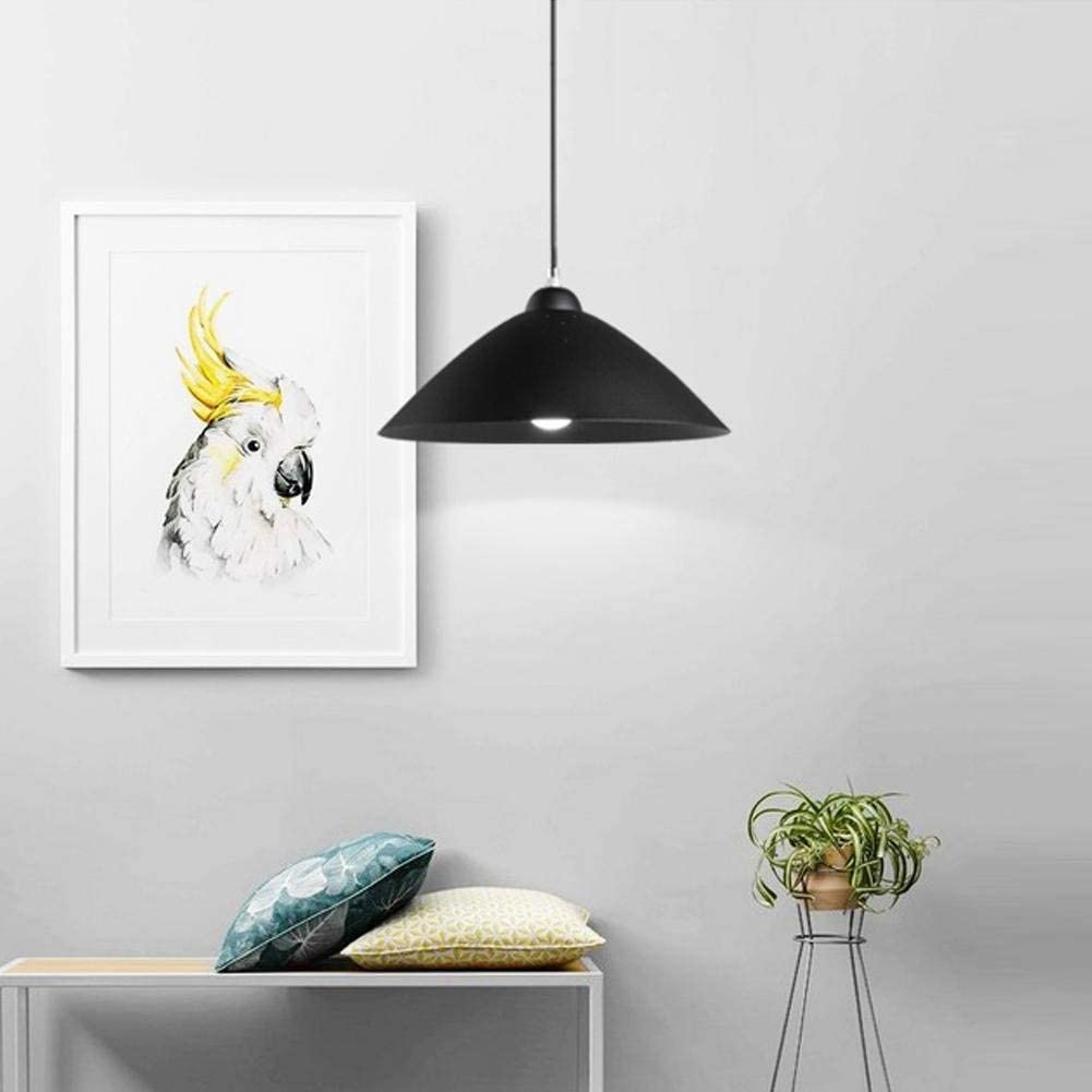 BOSSLV Light Modern Minimalist Hanging Light Industrial Creative Personality Fashion Pendant Lamp Metal Iron Pot Cover Lampshade Hanging Lamp E27 Ceiling Light Bar Coffee Dining Hall Interior