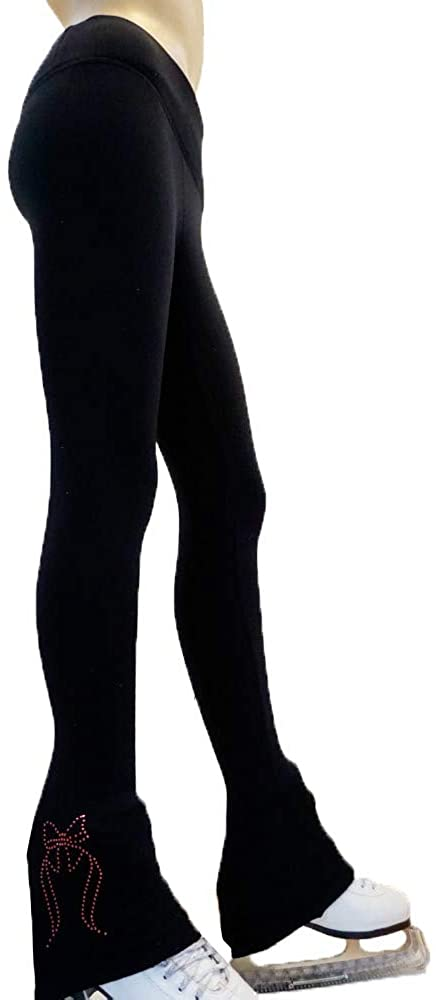 Victoria's Challenge Ice Skating Pants Polartec/Thermal/Compression Blue Pink Red Green Bow VCSP39